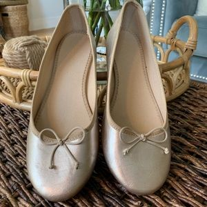 🌟Gold ballet flat shoes